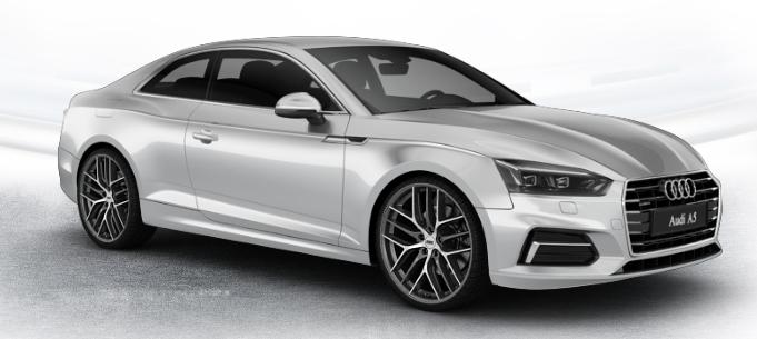 Audi A5 Sportsback mit BBS Felgen, Ansicht aus dem 3D-Felgenkonfigurator